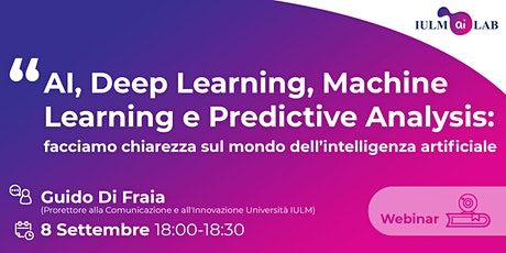 AI, Deep Learning, Machine Learning e Predictive Analysis biglietti