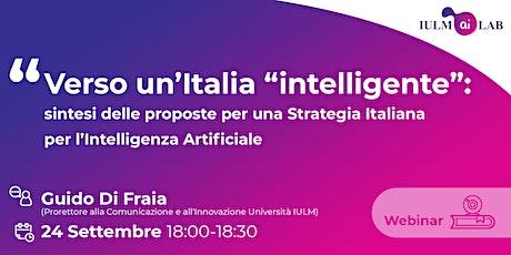 """Verso un'Italia """"intelligente"""" biglietti"""
