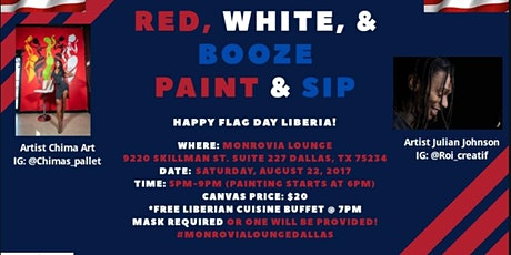 Red White  & Booze Paint &Sip tickets