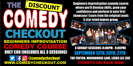 DCC - Beginners Improvisation Comedy Course - September - Leeds (3 Sundays) tickets