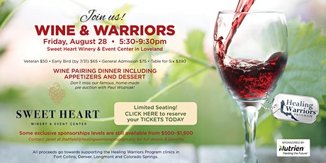 Wine and Warriors tickets