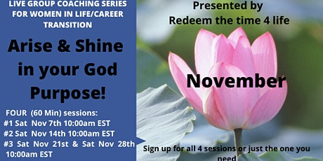 Arise & Shine in your God purpose (November 2020) tickets