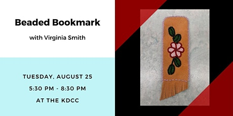 Beaded Bookmark with Virginia Smith tickets