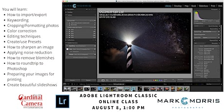 Adobe Lightroom Classic with Mark Morris tickets