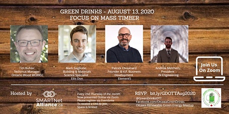 Green Drinks August On Zoom - Focus on Mass Timber tickets