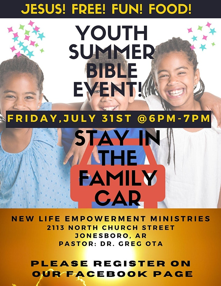 """""""I AM"""" Youth Summer Bible Event (PARKING LOT SERVICE) image"""