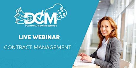 Live Webinar: Contract Management with Document Control Management entradas