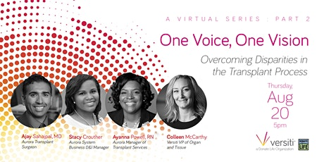 One Voice, One Vision Webinar tickets