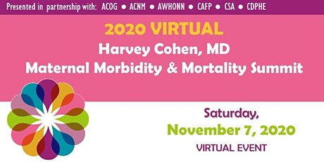 Harvey Cohen MD Maternal Morbidity & Mortality VIRTUAL Summit 2020 tickets
