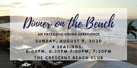 Dinner on the Beach (Sunday 8/9) tickets