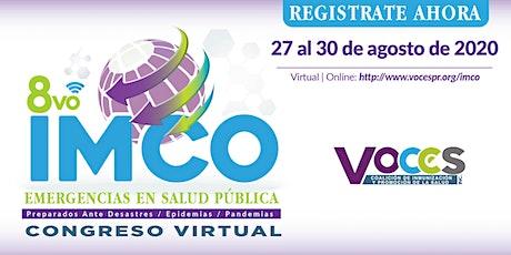 """8vo IMCO Congreso  """"Emergencias En Salud Pública"""" entradas"""