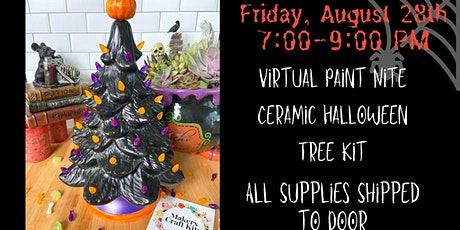 Virtual Paint Nite- Ceramic Halloween Tree- Supplies Shipped tickets