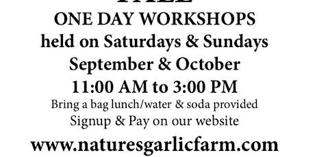 Outdoor Garlic Growing Workshops tickets