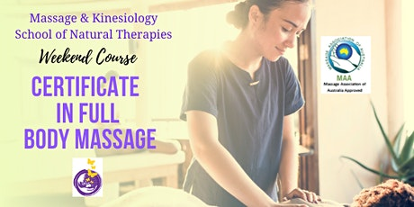 Certificate in Full Body Massage in Hervey Bay. Accredited Short Course tickets