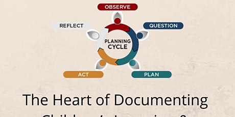 The Heart of Documenting Children's Learning & Reflective Practices tickets