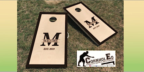Monogrammed Cornhole Set: sip and craft at Magnanini Winery tickets