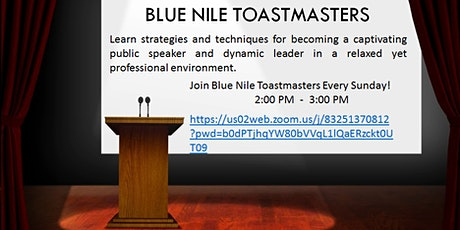 Blue Nile Toastmasters tickets