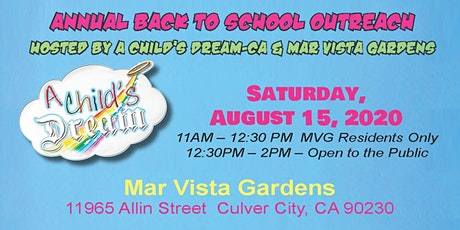 CHILD'S DREAM-CA:  ANNUAL BACK TO SCHOOL GIVE-AWAY 2020 tickets