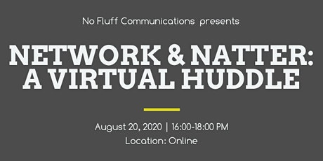 Network and Natter: Huddle tickets