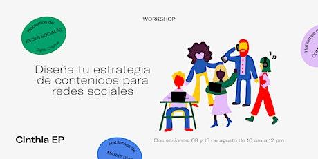 Workshop OnLine: Diseña tu estrategia de contenidos para redes sociales entradas