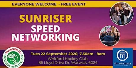 Free Business Sunriser - Speed Networking tickets