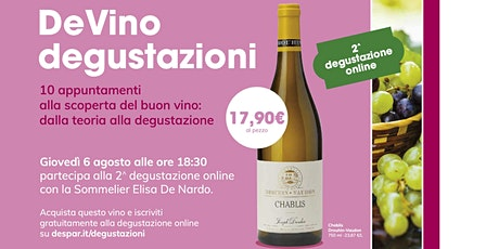 DeVino - Degustazione on line - Lezione 2 biglietti
