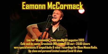 Eamonn McCormack live at Bluesmoose Radio limited seated summer 2020 series tickets