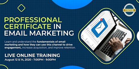 Professional Certificate in Email Marketing tickets