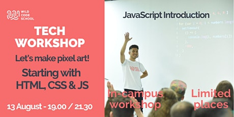 Tech Workshop - Let's make pixel art! | Introduction to HTML, CSS & JS tickets