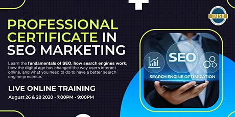 Professional Certificate in SEO Marketing Tickets
