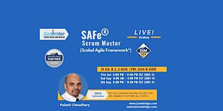 SAFe Scrum Master Certification – Virtual (31 Jul & 1st,5th Aug EST) tickets