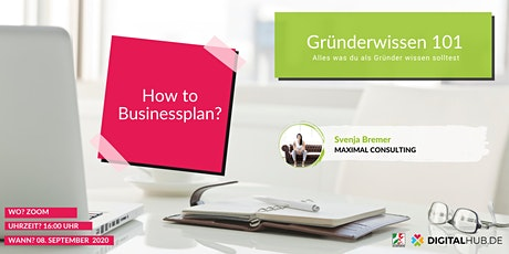 Gründerworkshop - How to Businessplan Tickets