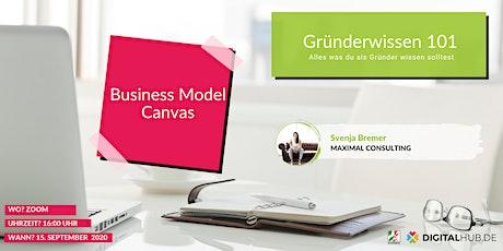 Gründerworkshop - Business Model Canvas Tickets