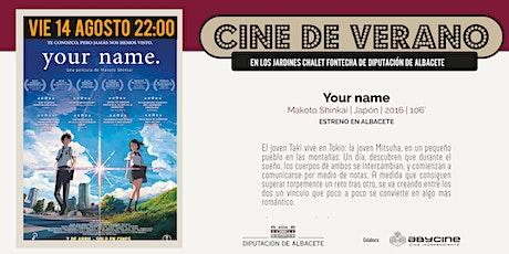 CINE DE VERANO Jardines Fontecha |  Your name (V.O.S.E.) (14 AGOSTO) entradas