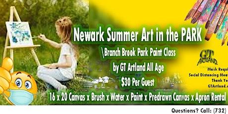 Newark Summer Art in Branch Brook Park Paint Class by GT Artland All Ages tickets