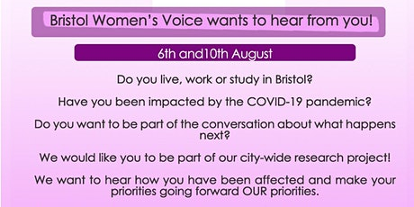 Bristol Women's Voice COVID-19 Focus Group billets