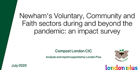 Newham's voluntary, community & faith sectors during and after Covid-19 tickets