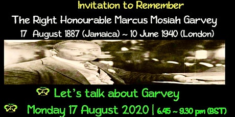 REMEMBERING MARCUS GARVEY tickets