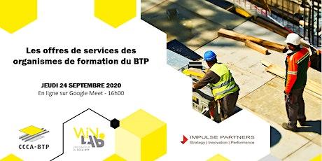 WinLab' : Les offres de services des organismes de formation du BTP billets