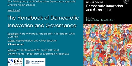 The Handbook of Democratic Innovation and Governance -  book launch entradas
