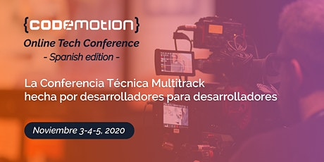 Codemotion Online Tech Conference 2020 - Spanish Edition entradas