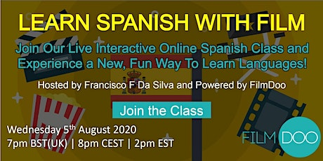 Learn Spanish through Film -  Interactive Online Spanish Class tickets