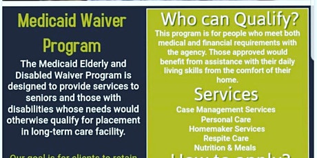 Elder and Disabled Medicaid Waiver Screening tickets