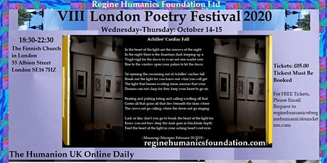 VIII London Poetry Festival 2020: October 14-15 tickets