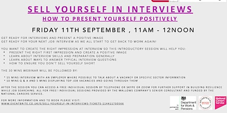 Sell Yourself in Interviews tickets
