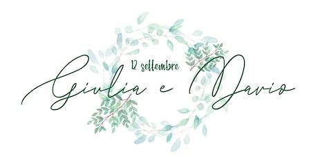 Matrimonio Giulia e Dario biglietti