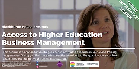 Online information Session //Access to Higher EducationBusiness tickets