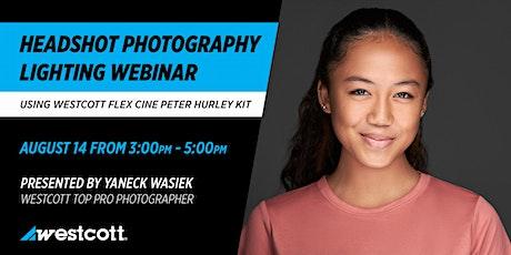 Headshot Photography using Westcott Flex Cine Peter Hurley Kit tickets