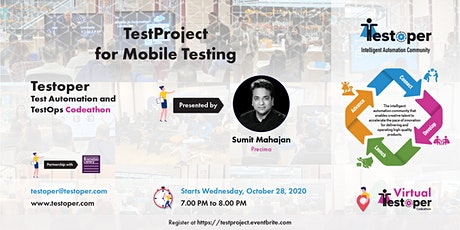 TestProject for Mobile Testing- Testoper Test Automation Codeathon