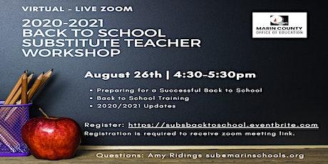 Back to School Substitute Teacher Workshop tickets
